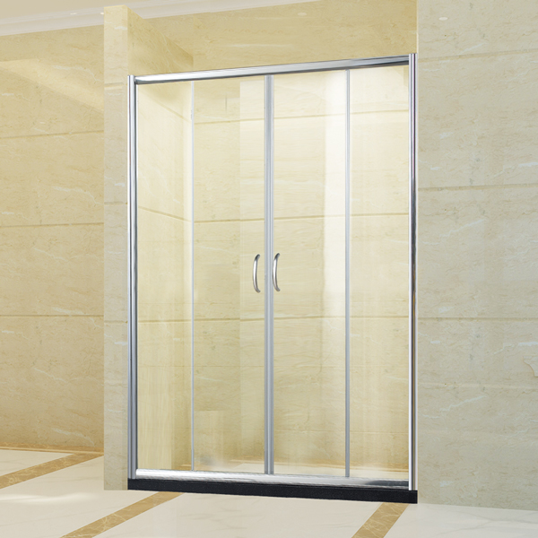 confortable new design shower door with stainless steel handle by china factory manufacture
