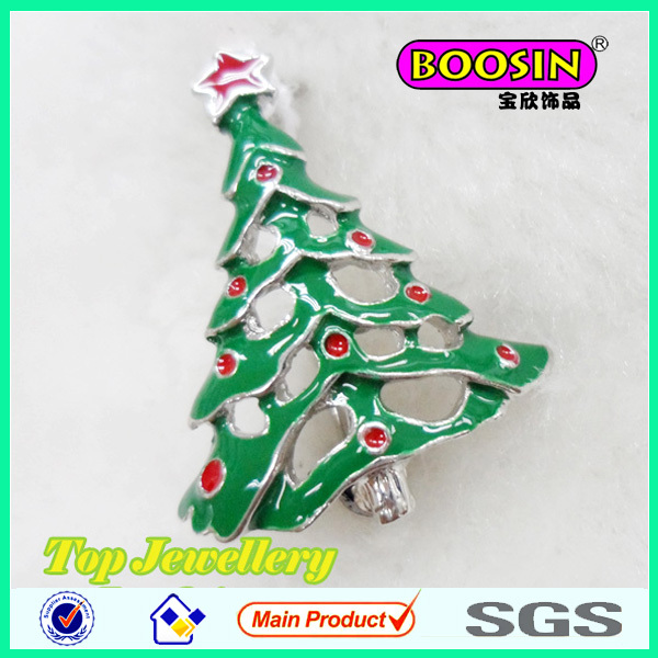 Christmas Tree Brooch/christmas 2014 new hot items gifts/Enamel christmas Brooch wholesale #5468