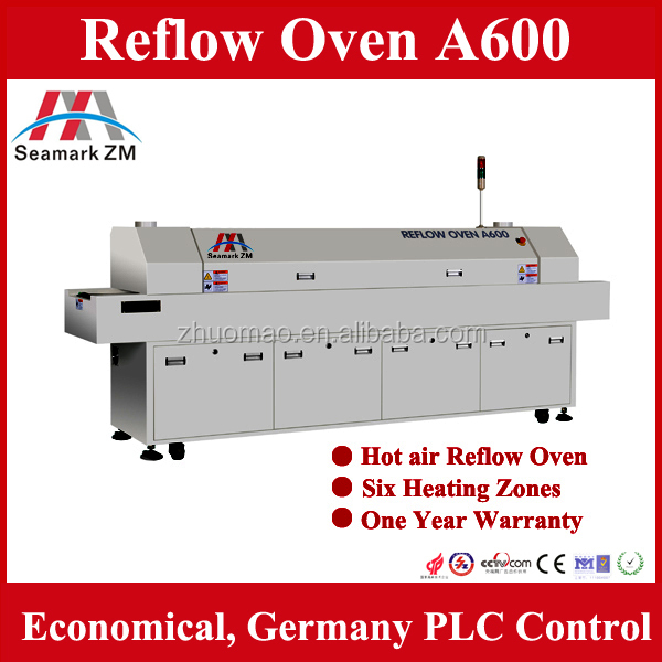 Hot air SMT Reflow oven A600 mini wave soldering machine With PC monitoring and PLC Control