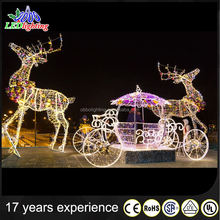 Wholesale Christmas decoratin of Reindeer /Sleigh led light