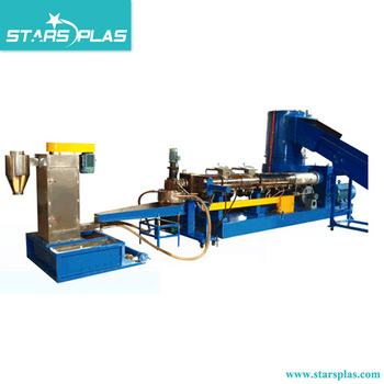 recycling PP PE Film plastic extruder granulator machine