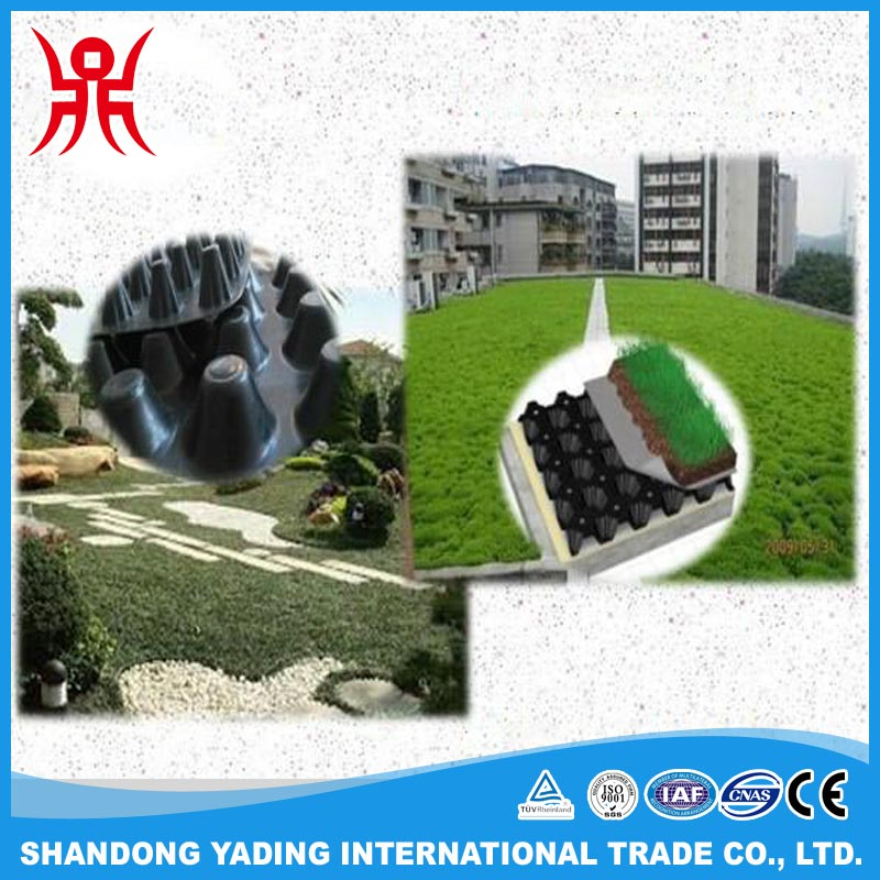 Waterproofing dimple plastic green roof drainage board