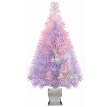 Manufacturer 32in Color Changing LED Fiber Optic White Christmas Tree