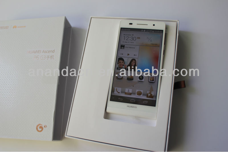 HUAWEI Ascend P6 Quad Core Smartphone 2G RAM Android 4.2 4.7 Inch 6.18mm Ultrathin OTG- White
