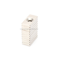 Hot Sale 2016 New Arrival hole countersunk Rare Earth Strong Block Neodymium Magnet for motor