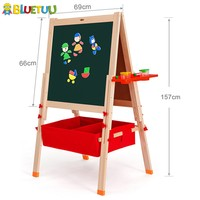 Deluxe pine cheap children big drawing board kid