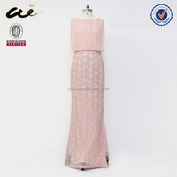 high quality pink color evening flapper dress;evening dress;party dress