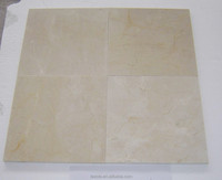 1st quality beige color Crema Marfil tiles for wall cladding and flooring