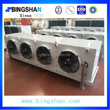 Frozen Sirloin Steak stainless steel tube epoxy coated Fin hot gas defrost two fans Air Cooler