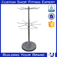 convenience store items metal pole stand ornament display rack