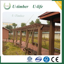 Huzhou Deqing Customized Design WPC Composite Pergola