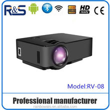 New Arrival! high Brightness Long life LED Full HD LED digital projectors , outdoor ultra short throw projector for mboibles