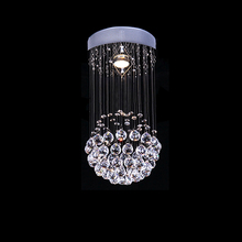 High Watt DY001 Chrome/ Crystal 1-light Mini Pendant Round Chandelier