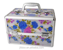 Professional aluminum maKeup case beauty box Acrylic cosmetic case JH131