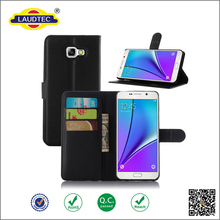 Original PU Leather wallet flip Cover black Cell Phone Case for Samsung Galaxy A5 2016