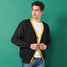 New Design Breathable Cardigan Men's Clothing Wool Sweater