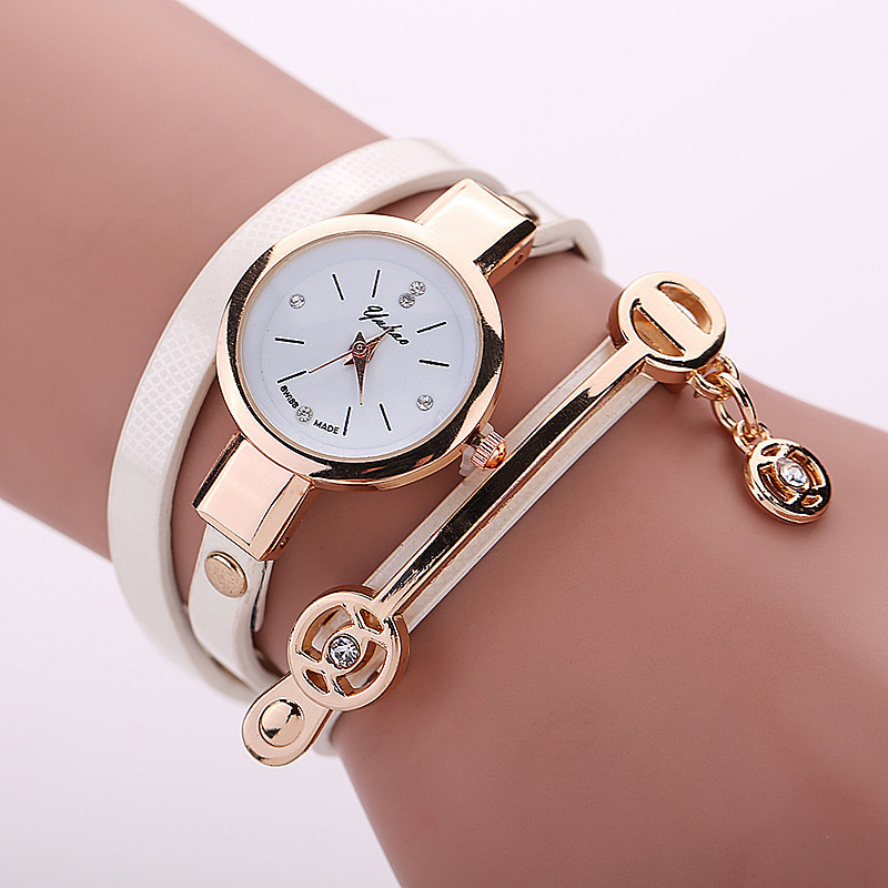 New sweet style lady fashion Hand-woven woman watch leather watches