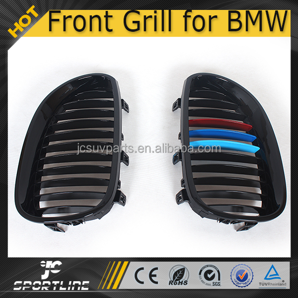 5 Series Sedan 3 Colour ABS E60 E61 Plastic Front Matt Black Kidney Glossy Grill For BMW E60 E61 05-08