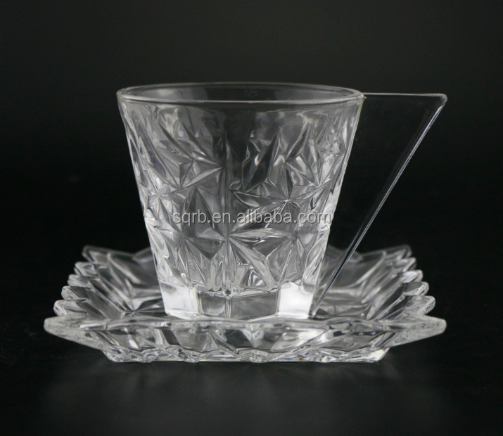Suit crystal tea glass cup dinner set