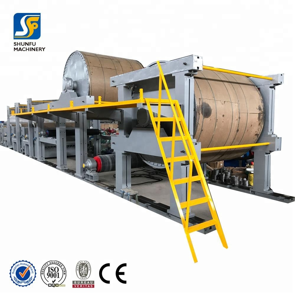 Big roll kraft paper making machine/waste paper recycle production line