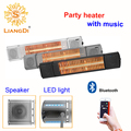 Bluetooth Control Infrared Ultra Low Glare outdoor electric heater with Speaker