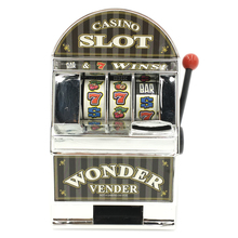 Replica Mini Table Top Bars and Sevens Plastic Slot Machine Shape Money Saving Box
