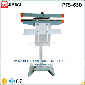 Wenzhou factory pedal sealing machine 650mm sealing length use for bag neck sealing