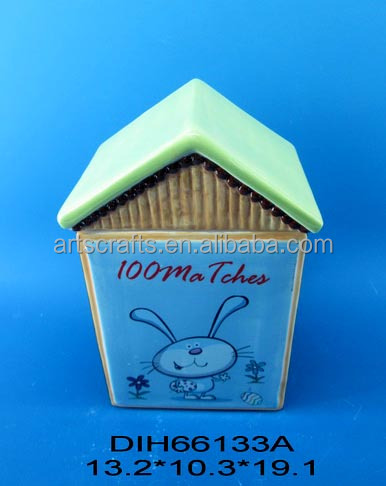 House shaped ceramic candy/cookie jar