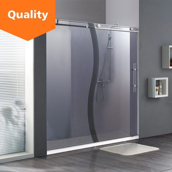 High standard 304 stainless steel sliding open style shower enclosure door