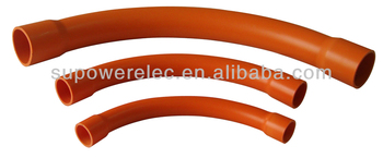 Australia standard Orange Heavy Duty PVC Sweep Bend Conduit Fitting