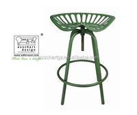 Tractor bar metal industrial chair in vintage