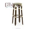 new arrival outdoor garden alu. frame bar chair bar stool bamboo like rattan chair