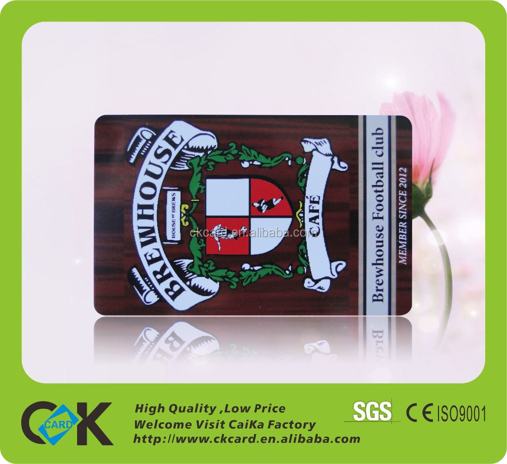 High quality professional black pvc card