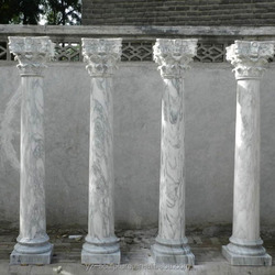 Outdoor Garden white marble pillar for sale CLMN-031