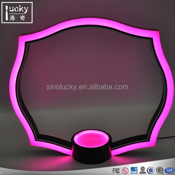Acrylic Advertising LED Color Change Light Wine Display