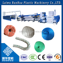 Japan PLC plastic flat wire plastic rope making machine