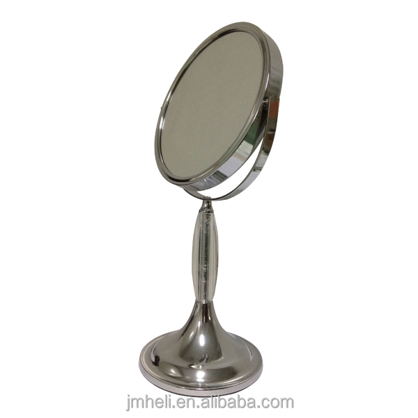 double sided metal magnifying mirror