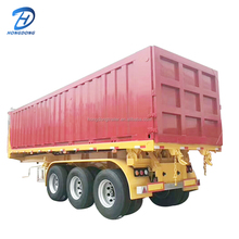 High tensile steel 40cbm suqare bucket tipper trailer for mining coal transport
