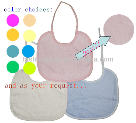 Hot Sale Wholesale High Quality 100% Cotton solid baby bib apron