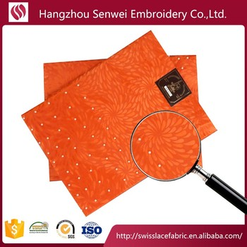 High quality african sego headtie beaded gele sego headtie for wedding HD373 in orange