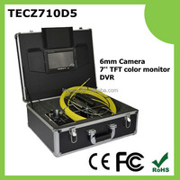 Small camera pipe inspection equipment, sewer camera for sale with DVR TEC-Z710D5