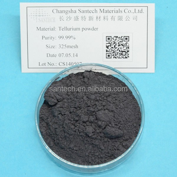 Factory price 5n 99.999 Tellurium metal powder or tellurium nano particles