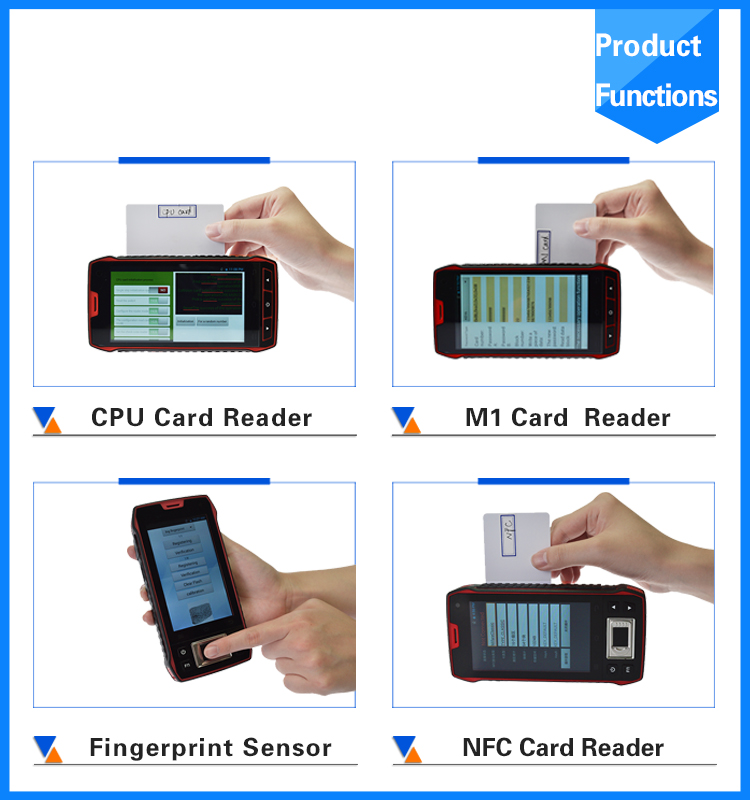 Waterproof contact contactless card reader with screen devices