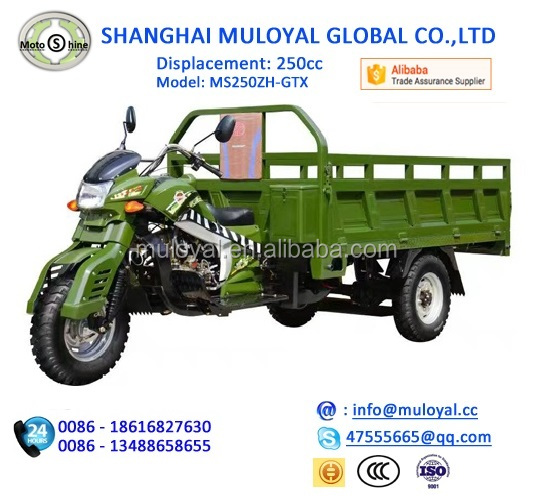 China factory direct MS250ZH-GTX 200cc gasoline africa cargo tricycle