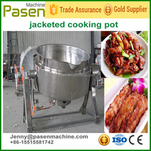 Stainless steel pot for cooking / gas heating jacketed kettle / gas jacketed jam cooking pot mixer