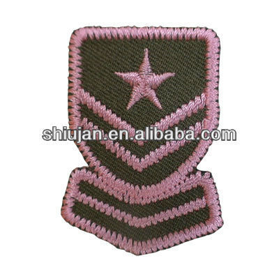 2017 hot sale cheap high quality army military rank embroidery patch from China manufacturer, in Guangzhou