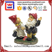 2017 Resin souvenir garden gnome figures for garden decoration