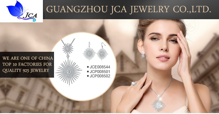 China Wholesale 925 Sterling Silver Gold Plated Jewelry Set With CZ