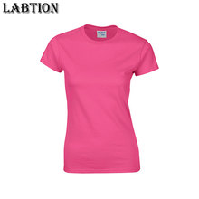 Wholesale customized 180grams high quality 100% cotton women t-shirt