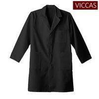Unisex Knee Length Black Lab Coat